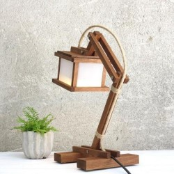 bamboo floor lamp stand
