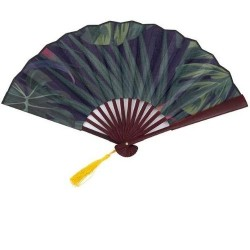 Engraved Palm Leaf Hand Fan