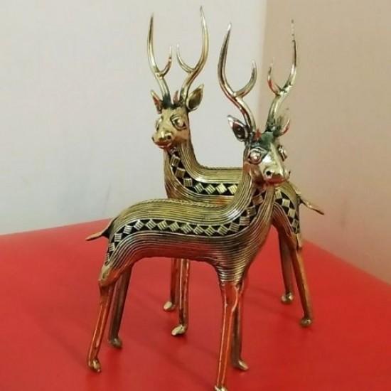 Dhokra Deer Statue