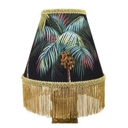 Engraved Palm Leaf Lamp Shade